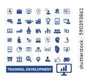 training development icons  | Shutterstock .eps vector #590393861