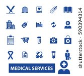 medical services icons  | Shutterstock .eps vector #590394314