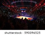 basketball court with people... | Shutterstock . vector #590396525