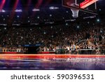 basketball court with people... | Shutterstock . vector #590396531