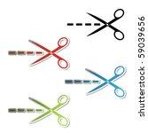 Vector Scissor Stickers