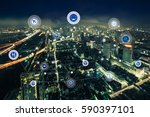 smart city and wireless... | Shutterstock . vector #590397101