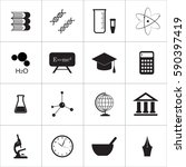 school and education icons | Shutterstock . vector #590397419