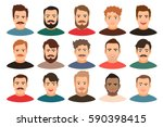 cartoon handsome young guy... | Shutterstock .eps vector #590398415