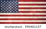 usa national flag background in ... | Shutterstock . vector #590401157