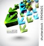 3d arrows design | Shutterstock .eps vector #59040601