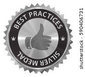 best practices award silver... | Shutterstock . vector #590406731