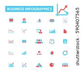 business infographics icons   Shutterstock .eps vector #590407565