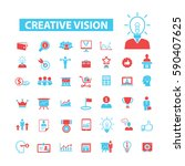 creative vision icons | Shutterstock .eps vector #590407625