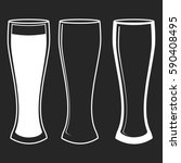 the different beer glasses...