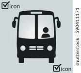 bus icon. schoolbus symbol....   Shutterstock .eps vector #590411171