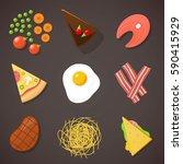food  food diversity | Shutterstock .eps vector #590415929