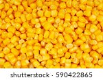 Corn Texture. Yellow Corns As...