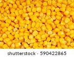 Corn Texture. Yellow Corns As...