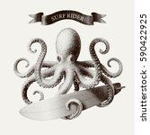 vector octopus tentacles... | Shutterstock .eps vector #590422925