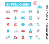 supply chain icons  | Shutterstock .eps vector #590427431