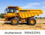 Dump Truck Parking Big Yellow...