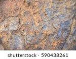 Old Stone Closeup  Macro. Ston...