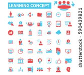 learning concept icons | Shutterstock .eps vector #590439821