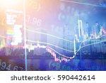 digital display of stock market ...   Shutterstock . vector #590442614
