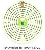 st patrick's day labyrinth...   Shutterstock .eps vector #590443727