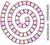 abstract futuristic spiral maze ...   Shutterstock .eps vector #590454605