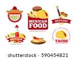 vintage mexican restaurant... | Shutterstock .eps vector #590454821