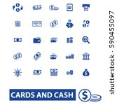 cards and cash icons | Shutterstock .eps vector #590455097