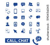 call chat icons  | Shutterstock .eps vector #590456045