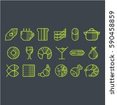 vector set of food icons. set... | Shutterstock .eps vector #590458859