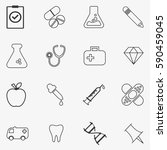 icons with instruments for... | Shutterstock .eps vector #590459045