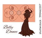 belly dancer silhouette. vector ... | Shutterstock .eps vector #590462207