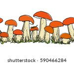 vector horizontal seamless... | Shutterstock .eps vector #590466284