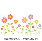 spring colorful flowers growing.... | Shutterstock .eps vector #590468954