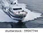 luxury yacht  aerial view | Shutterstock . vector #59047744