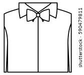 figure sticker shirt with bow... | Shutterstock .eps vector #590479811