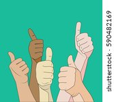 likes crowd hands gesture ... | Shutterstock .eps vector #590482169