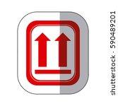 color sides up emblem icon ... | Shutterstock .eps vector #590489201