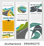 road trip and car journey... | Shutterstock .eps vector #590490275
