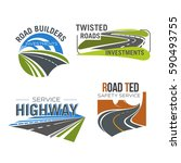 road  highway  freeway and...   Shutterstock .eps vector #590493755