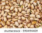 Pistachio Texture. Nuts. Green...