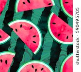 fruity seamless vector pattern...   Shutterstock .eps vector #590495705