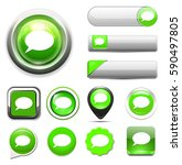 chatting icon  talk bubble ... | Shutterstock .eps vector #590497805
