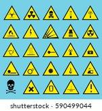 symbols triangular warning... | Shutterstock .eps vector #590499044