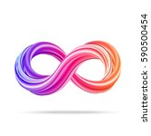 colorful 3d infinity icon on... | Shutterstock .eps vector #590500454