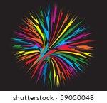 abstract firework illustration | Shutterstock . vector #59050048