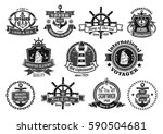nautical heraldic emblem set.... | Shutterstock .eps vector #590504681