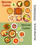mexican cuisine dinner dish... | Shutterstock .eps vector #590504831