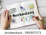 merchandising business... | Shutterstock . vector #590507171