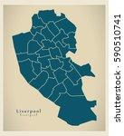 modern city map   liverpool... | Shutterstock .eps vector #590510741